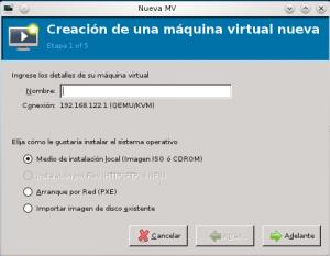 instalar nueva máquina virtual
